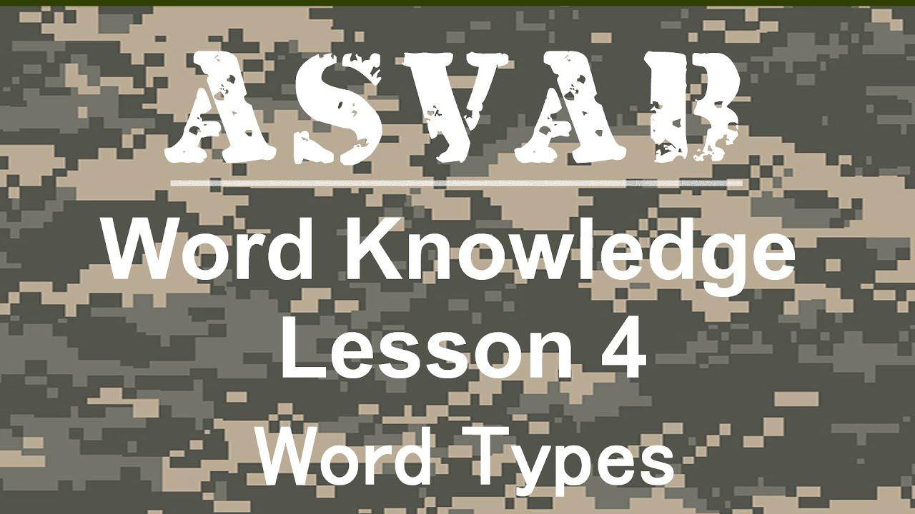 Army Asvab Word Knowledge - Asvab Word Knowledge