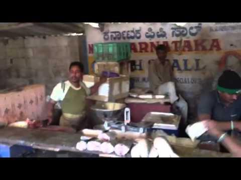 Bartering for fish in Hal Market, Kagadassapura, Bangalore