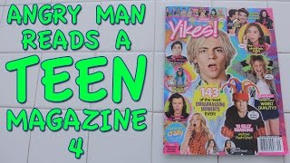 Angry Man Reads a Teen Magazine 4