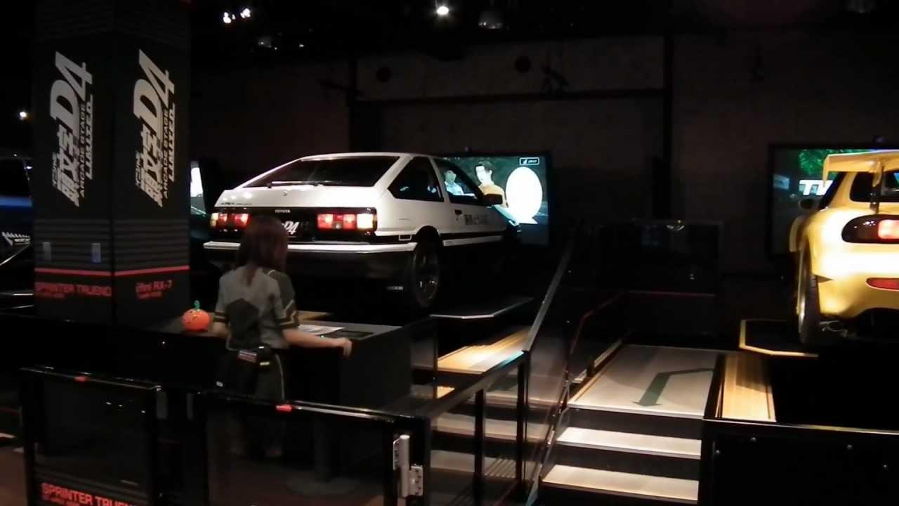Initial D arcade game with real cars at Sega Joypolis Tokyo - YouTube