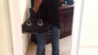 """Quick modeling of me carrying my Elie Tahari Zoe satchel"" Thumbnail"