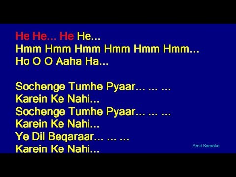 Sochenge Tumhe Pyar Kumar Sanu Hindi Full Karaoke With Lyrics
