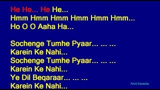 Sochenge Tumhe Pyar - Kumar Sanu Hindi Full Karaoke with Lyrics