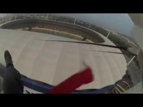 WOOOOOOW un SPIDERMEN Tunisien au stade olympique de Rades