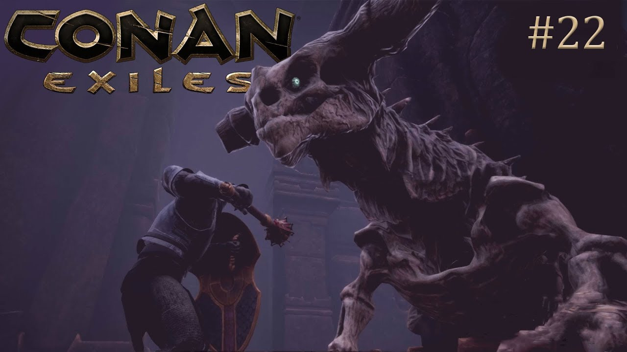 Conan Exiles - How to Solo the Undead Dragon + Escaping the Exiled Lands -  Full release E22