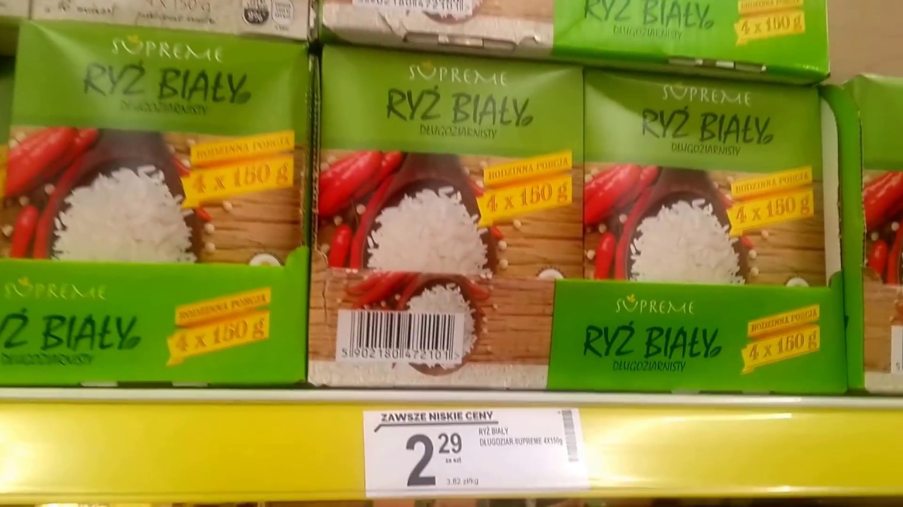 Цены на продукты в Польше 2018. Обзор магазина