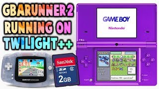 DSi GBA Games Off SD Card! GBARUNNER2!