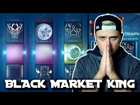 I CAN'T STOP GETTING BLACK MARKETS! | OPENING 100 NEW TRIUMPH CRATES IN ROCKET LEAGUE