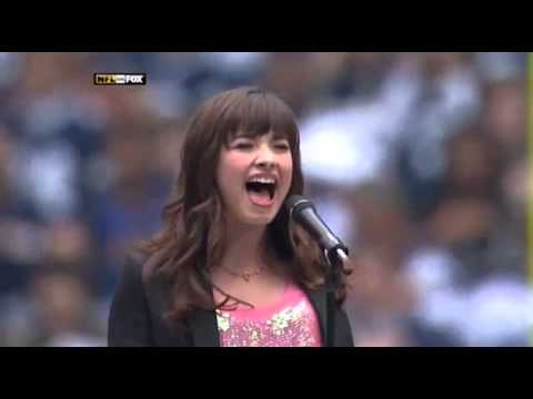 Demi Lovato Singing The National Anthem  27112008