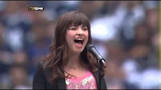 Demi Lovato Singing The National Anthem - 27/11/2008.