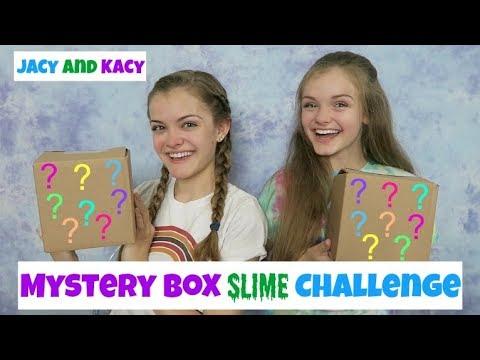 Mystery Box Slime Challenge ~ Jacy and Kacy