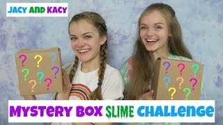 Mystery Box Slime Challenge ~ Jacy and Kacy