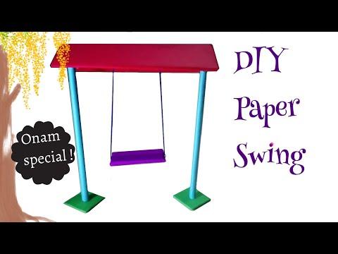 How to make paper swing | कागज का झूला कैसे बनाये | کاغذ سوئنگ بنانے کا طریقہ | Craft | art beats