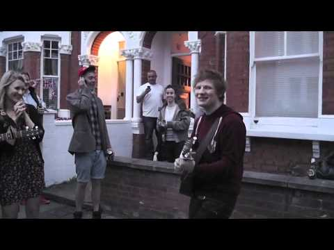 "Ed Sheeran playing ""You need me I don't need you"" at our street party"
