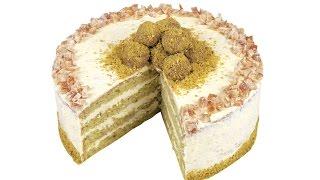 Фисташковый торт с апельсиновым кремом. Пошаговый рецепт.