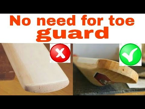 How To Make A Cricket Bat Toe Guard Seal Fybers Mania