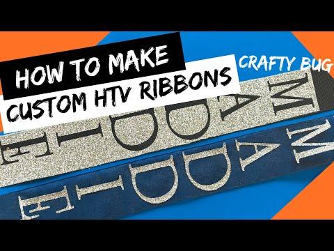 DIY HTV CUSTOM RIBBONS; homecoming mum/ mums; SCAN N CUT 2; heat transfer vinyl diy