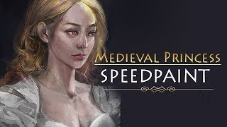 [Speedpaint] Medieval Princess Digital Painting