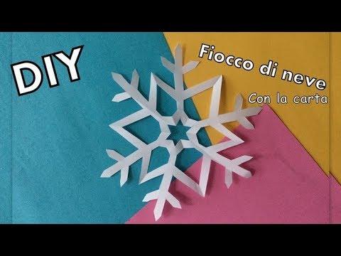 Fiocchi Di Neve Di Carta Facili : ❄ fiocchi di neve di carta ❤ super facili lavoretti con