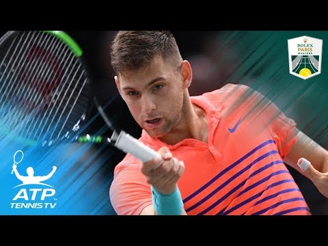 Krajinovic Shocks Isner, Sock Closes in on London | Rolex Paris Masters 2017 Semi-final Highlights
