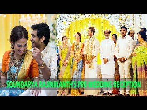 Rajinikanth's daughter Soundarya looks splendid at her pre-wedding reception