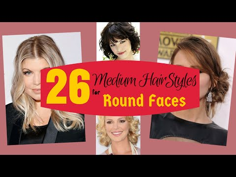 26 Superb Medium Hairstyles for Round Faces 2015