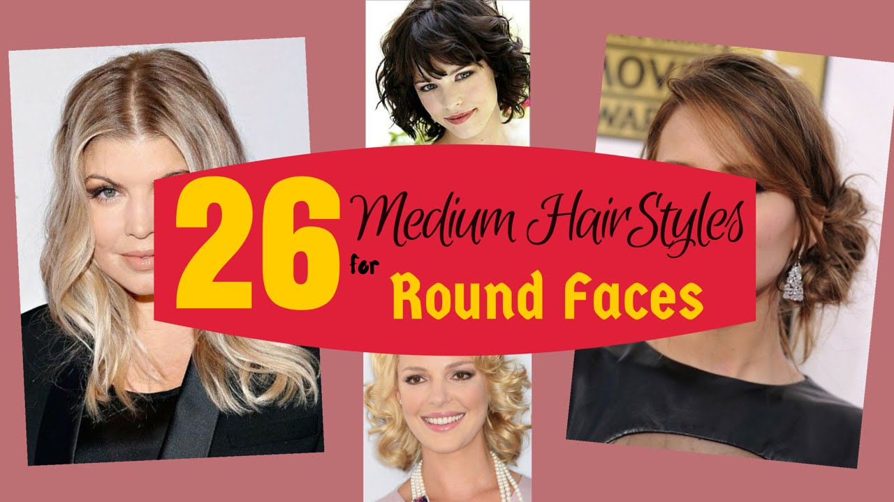26 superb medium hairstyles for round faces 2015 - youtube