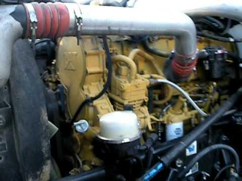 CAT C15 twin turbo - YouTube