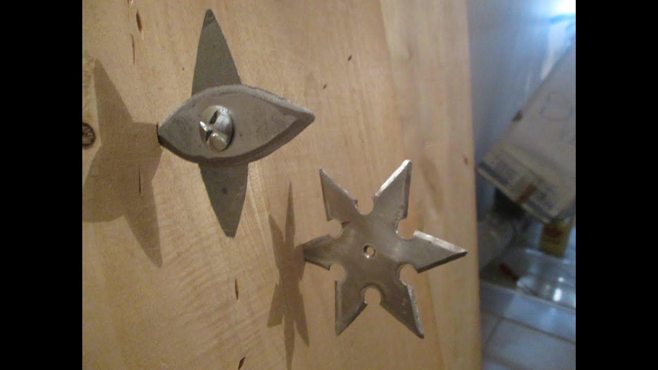 Foldable throwing star homemade shuriken youtube reheart Choice Image