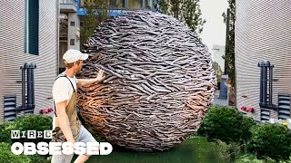 How This Craftsman Weaves Huge Wooden Sculptures | Obsessed | WIRED
