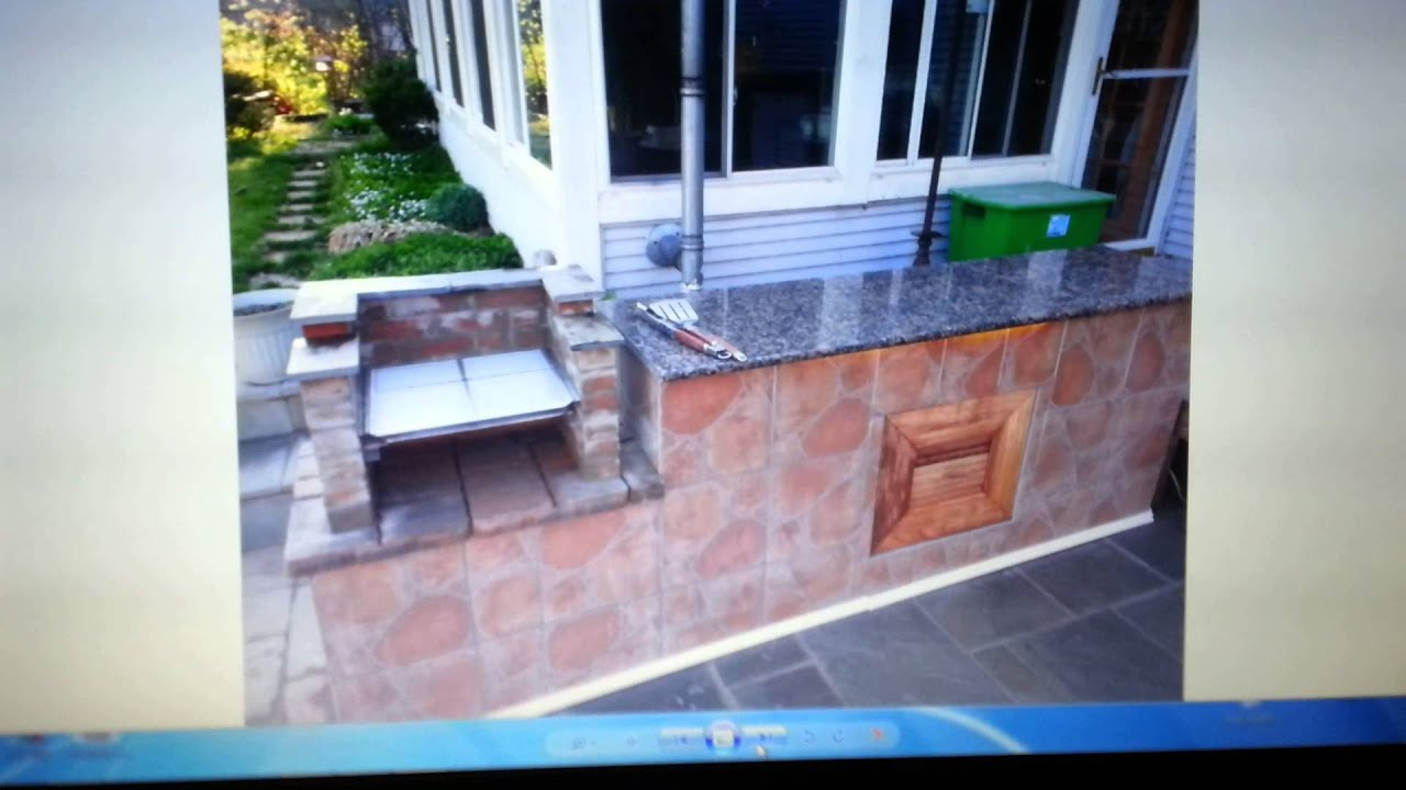 Build Outdoor Island With Brick Bbq Grill Attached Youtube