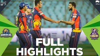 PSL2021 | Full Highlights | Karachi Kings vs Quetta Gladiators | Match 1 | HBL PSL 6 | MG2T