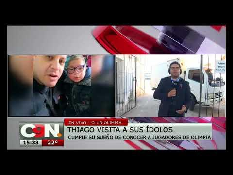 Thiago visita a sus ídolos