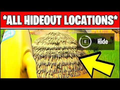 HIDE INSIDE HIDEOUTS IN DIFFERENT MATCHES (ALL LOCATIONS) - Fortnite Chapter 2 Season 1 Challenges