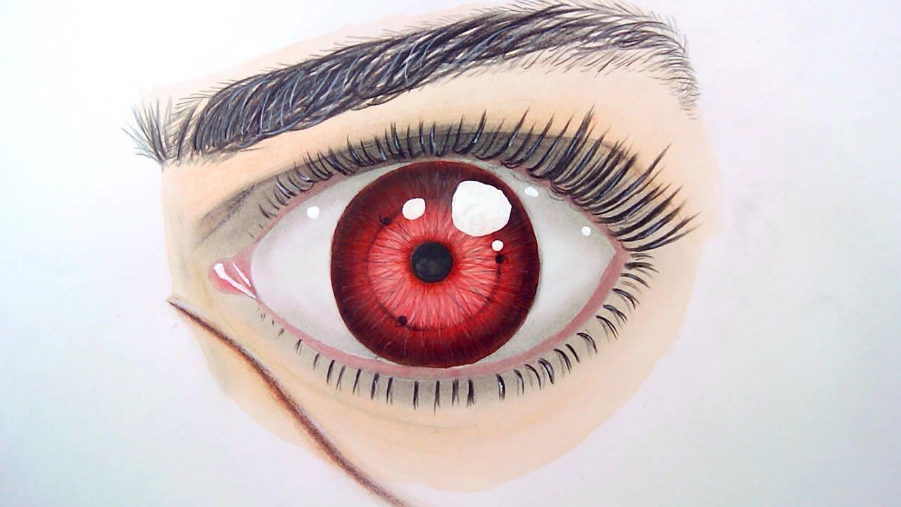 Drawing Anime Eyes SHARINGAN Realistic Eye