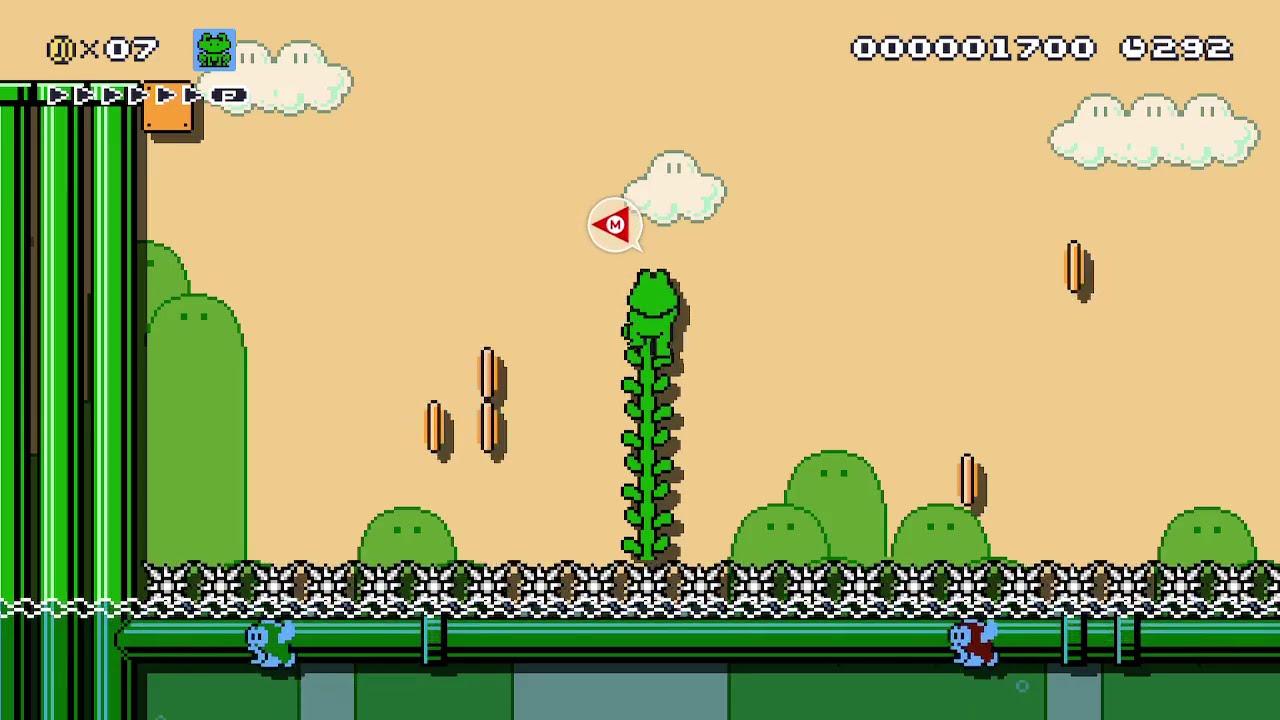 Spiked Lake - Mario Maker 2