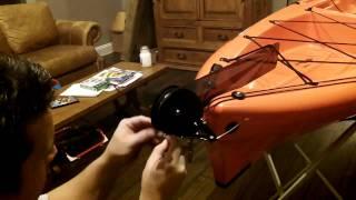 2012 Wilderness Ride 135 Rudder Install