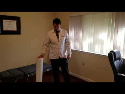 San Jose Chiropractor Shows How To Foam Roll Adductors / Groin