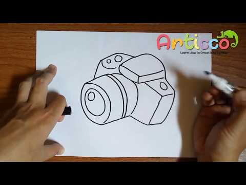 How To Draw A Camera Step By Step For Kids Youtube