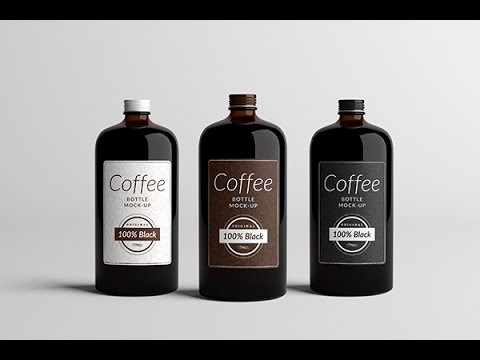 Coffee Bottle Mock Up | How To Use - YouTube