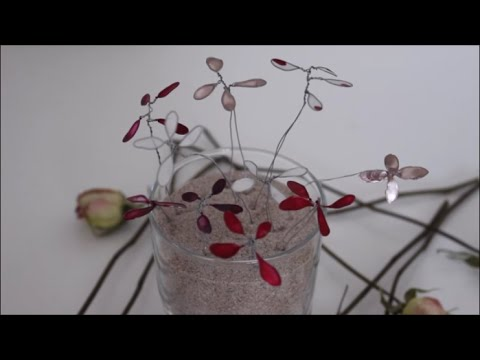 DIY: Nagellackblumen aus Draht basteln - YouTube