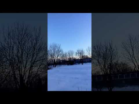 Sun & Moon in the sky at same time, 15:30pm  Montreal, January 2017