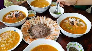Bánh canh cua bột xắt nước cốt dừa mẹ nấu | Món Ngon Mẹ Nấu
