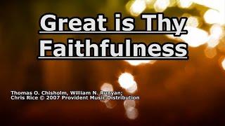 Great is Thy Faithfulness - Chris Rice - Lyrics