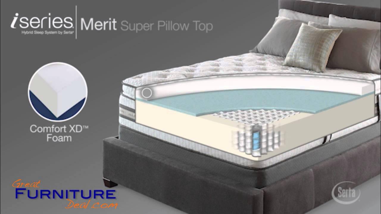 Serta Mattress Iseries Merit Super Pillow Top By Greatfurnituredeal You