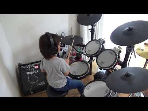 はるま 4歳 Mr.Children 運命 ドラム