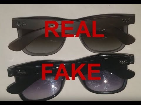 04de7e66b Real vs. Fake Ray Ban Justin. How to spot fake Ray Bans - YouTube