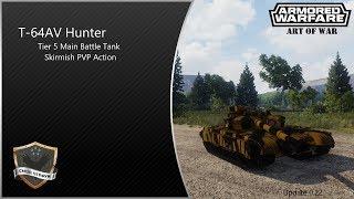 Armored Warfare (0.22) - T-64AV Hunter PVP Gameplay