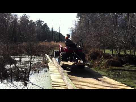 how to build a creek crossing bridge