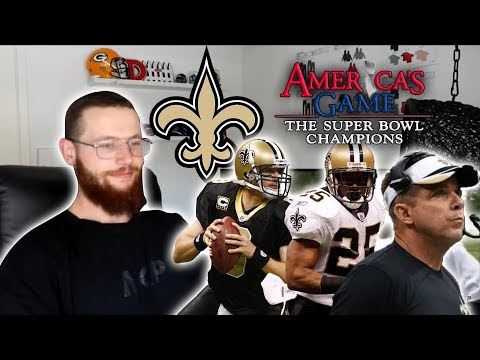 Rugby Player Reacts to AMERICA'S GAME 2009 New Orleans Saints Superbowl Story!